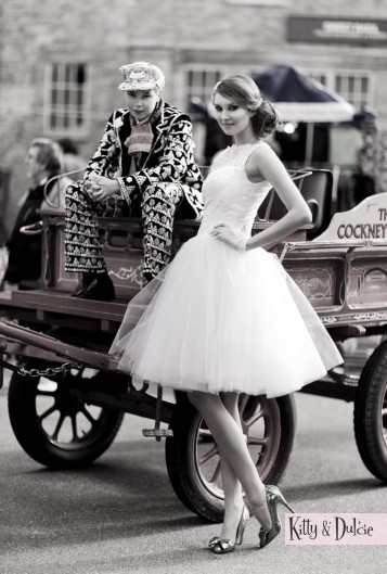 Pearly Queen wedding dress
