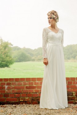 Jasmine's Secret beaded lace wedding dress