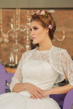 Betty's Bolero lace wedding jacket