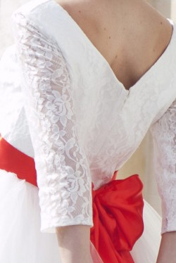 Bridal Sash Rero Red