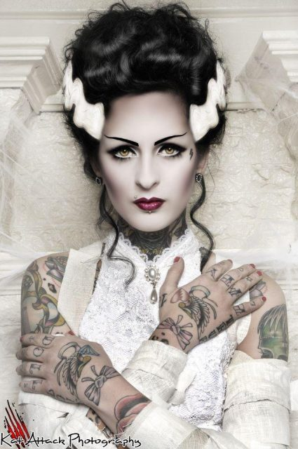 bride-of-frankenstein-make-up-frankensteinold-movie-monsters-wedding-theme-inspiration-pinterest