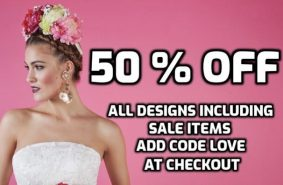 Half price bridal sale