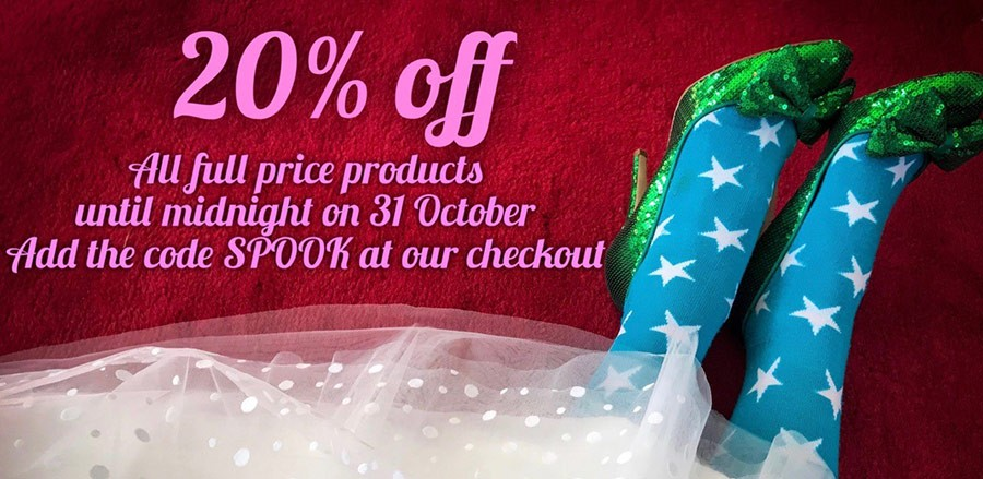 20% off full price products with code SPOOK